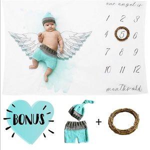 Baby Milestone Blanket Set NWT Girl Boy Baby Angel